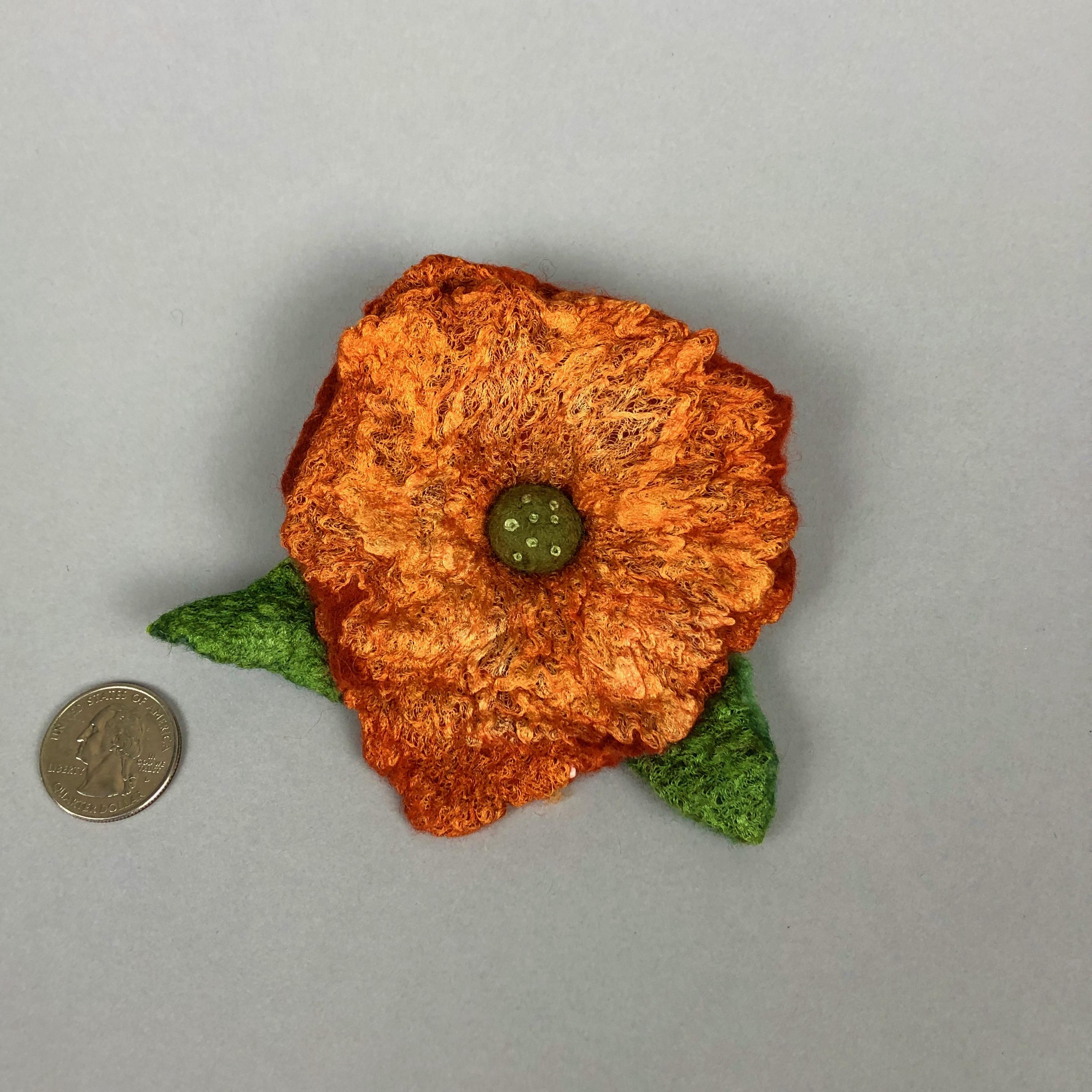 orangefeltflowerpin